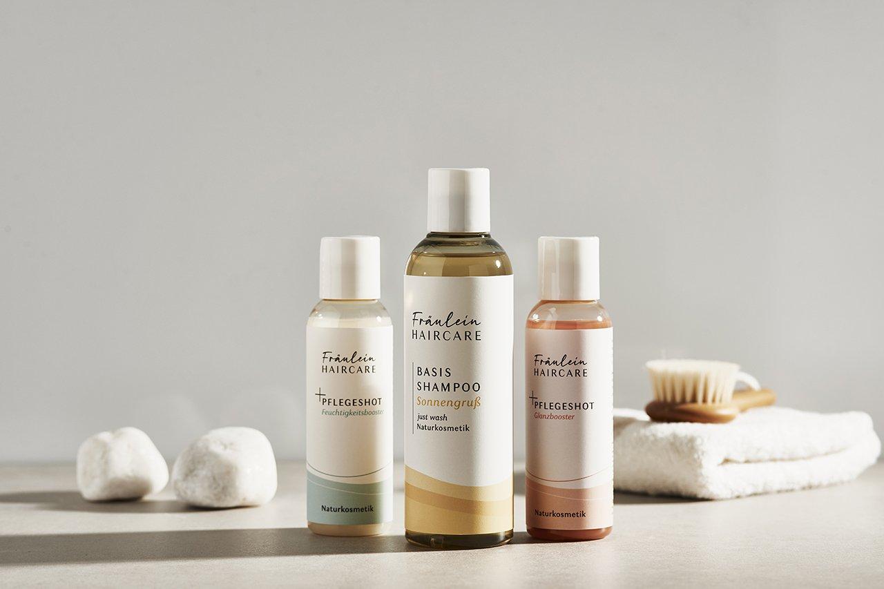 Das Basis-Shampoo von Fräulein Haircare mit zwei Pflege-Shots