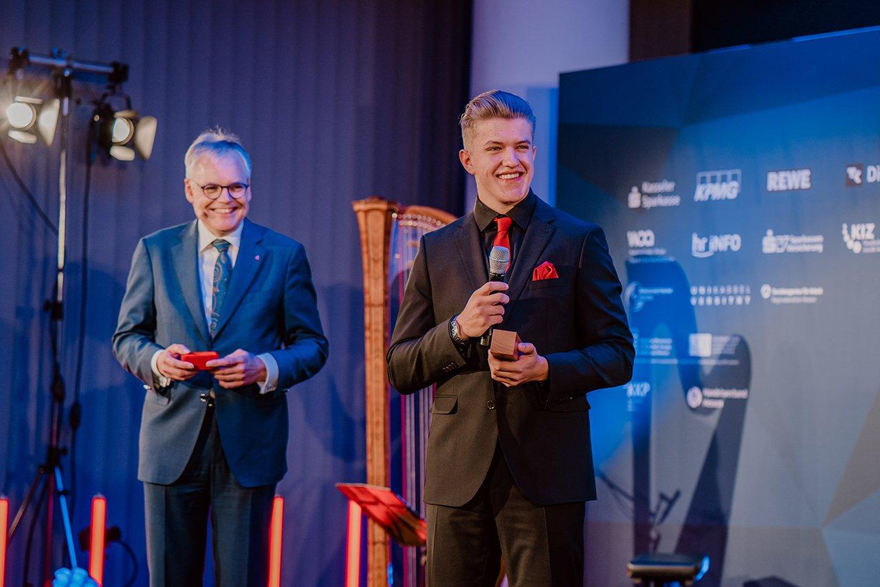 Felix Kläres beim Hessischen Gründerpreis. Quelle: 3dforyou