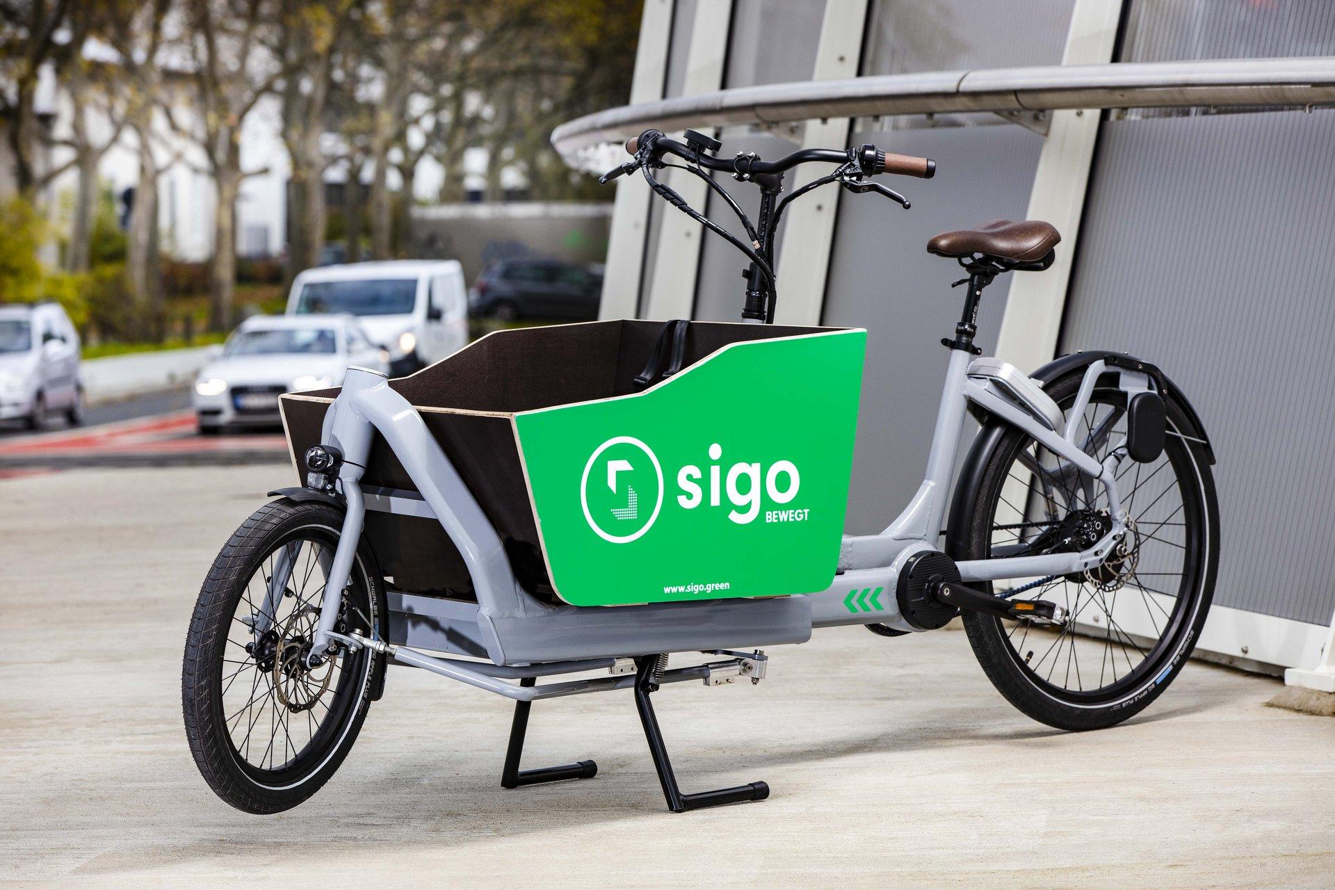 Ein E-Lastenbike von Sigo. Quelle: Sigo GmbH