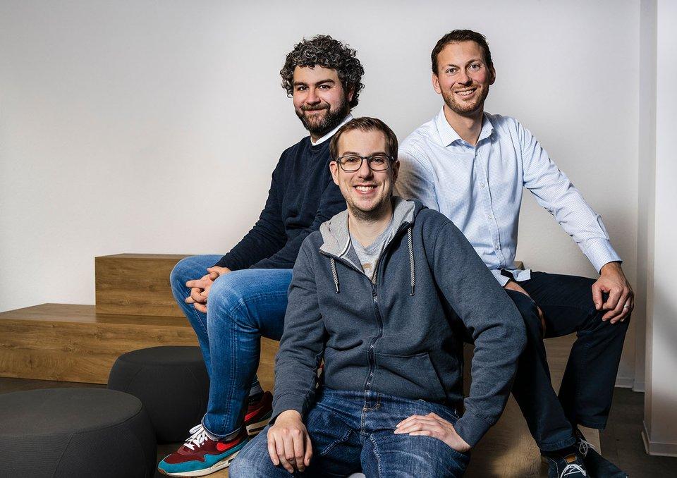Die Sigo-Geschäftsführer Edin Zekanovic, Tobias Lochen, Philipp Harterründer.